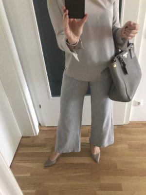 (The Mercer) NY Pantalón de cintura alta gris claro
