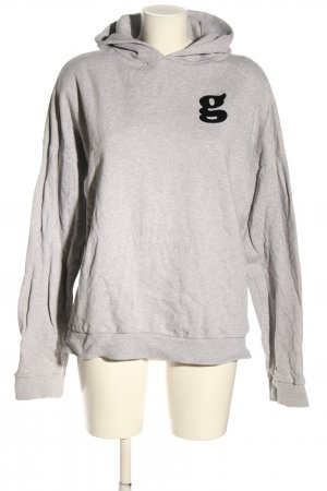 (The Mercer) NY Capuchon sweater lichtgrijs-zwart gestippeld casual uitstraling