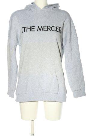 (The Mercer) NY Sweat à capuche gris clair moucheté style décontracté