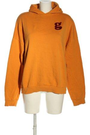 (The Mercer) NY Hooded Sweatshirt light orange-red printed lettering casual look