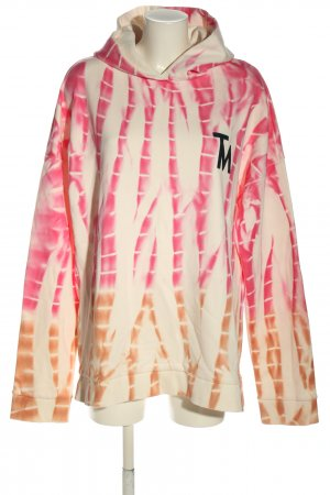 (The Mercer) NY Hooded Sweatshirt abstract pattern casual look