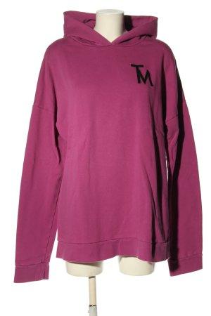 (The Mercer) NY Felpa con cappuccio rosa stile casual