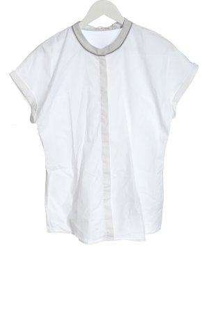 (The Mercer) NY Blouse à manches courtes blanc style décontracté