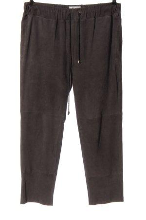 (The Mercer) NY Pantalone in pelle marrone stile casual