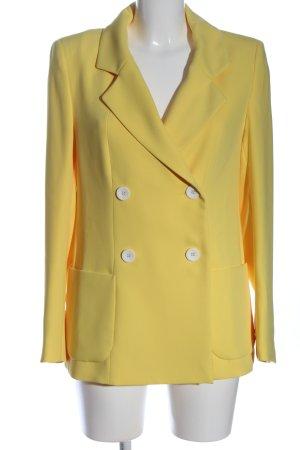 (The Mercer) NY Blazer largo amarillo pálido look casual
