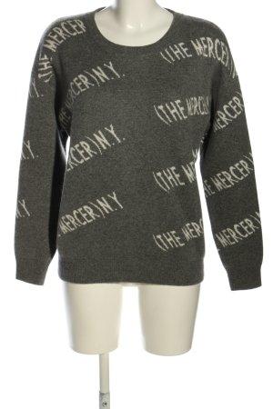 (The Mercer) NY Sweter z okrągłym dekoltem jasnoszary-biały Melanżowy