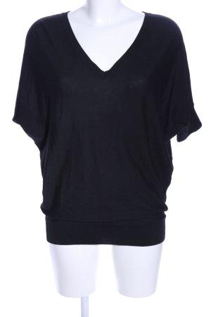 (The Mercer) NY T-shirts en mailles tricotées noir style décontracté