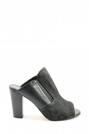 The No Animal Brand Heel Pantolettes black casual look