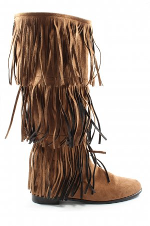 The No Animal Brand Wide Calf Boots brown casual look