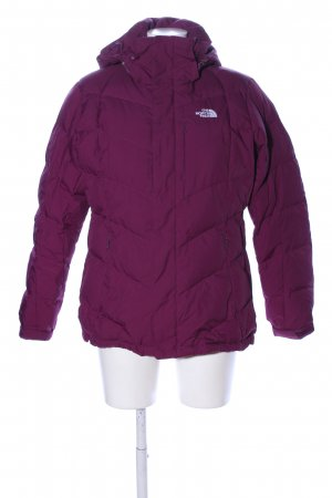 The North Face Donsjack roze quilten patroon casual uitstraling