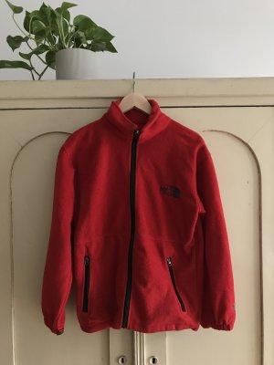 North Face Fleece trui rood-zwart