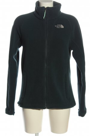 The North Face Fleece Jumper black embroidered lettering casual look