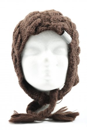 The North Face Aviator Hat brown cable stitch casual look