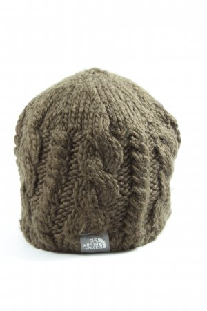 The North Face Cappello a maglia cachi punto treccia stile casual