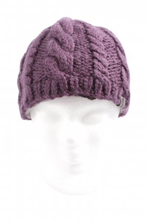 The North Face Crochet Cap pink cable stitch casual look