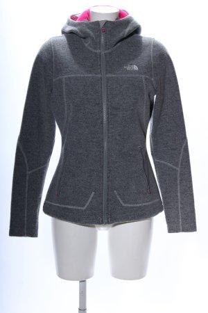 The North Face Giacca con cappuccio grigio chiaro puntinato stile casual