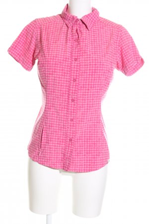 The North Face Kurzarm-Bluse weiß-pink Allover-Druck Business-Look