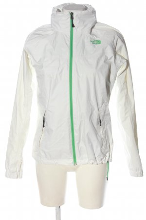 The North Face Kurtka outdoor biały-zielony Nadruk z motywem W stylu casual