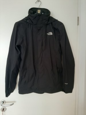 North Face Imperméable noir-blanc nylon