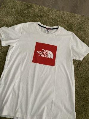 The North Face T-shirt biały-czerwony