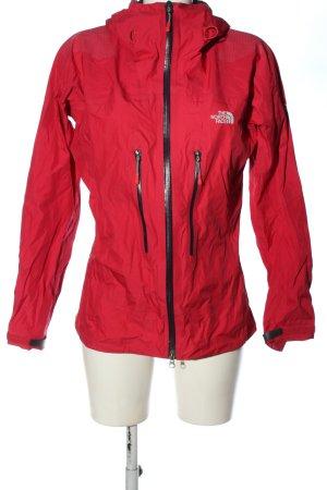 The North Face Kurtka softshell czerwony-turkusowy Wydrukowane logo