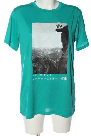 The North Face Camisa deportiva turquesa estampado temático look casual