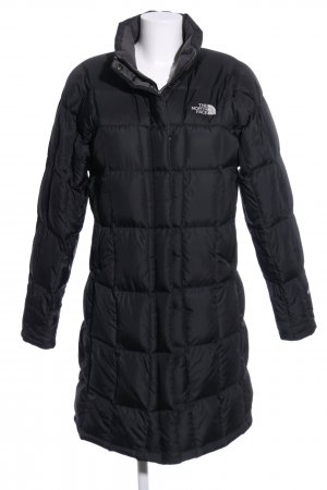 The North Face Manteau matelassé noir motif de courtepointe style décontracté