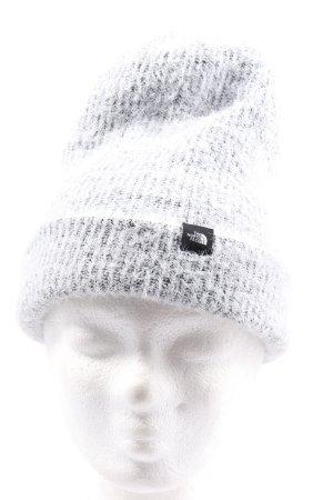 The North Face Chapeau en tricot gris clair style décontracté