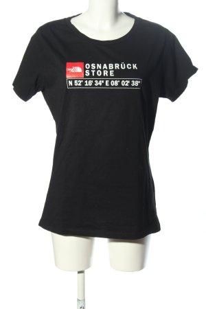 The North Face T-Shirt schwarz-weiß Schriftzug gedruckt Casual-Look