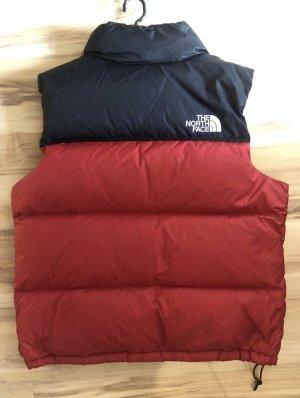 The North Face Chaleco de plumón rojo ladrillo-negro