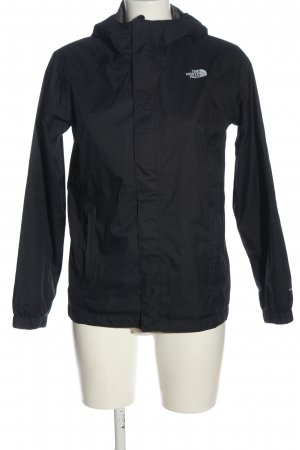 The North Face Windbreaker black-white themed print casual look