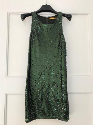 Alice + Olivia Sequin Dress dark green-petrol nylon