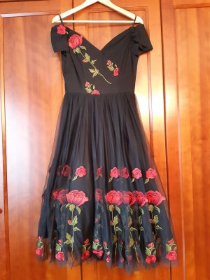 The Pretty Dress Company Petticoatjurk zwart-rood Viscose