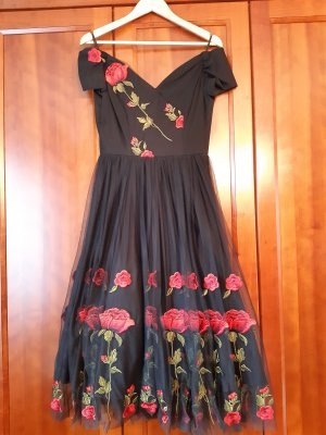 The Pretty Dress Company Abito a sottoveste nero-rosso Viscosa