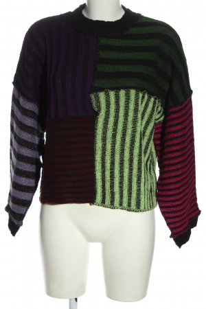 The Ragged Priest Knitted Sweater striped pattern casual look