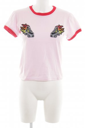 The Ragged Priest T-Shirt pink abstract pattern casual look