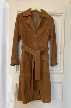 H&M Trenchcoat orange clair cuir