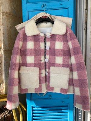 Saks Potts Giacca di pelliccia rosa-bianco sporco Pelliccia