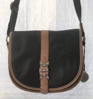 The Sak Bolsa de hombro marrón-negro Cuero
