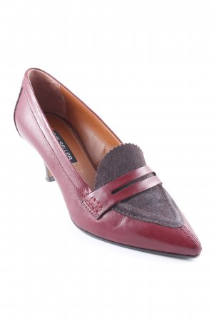The seller Spitz-Pumps bordeauxrot-taupe