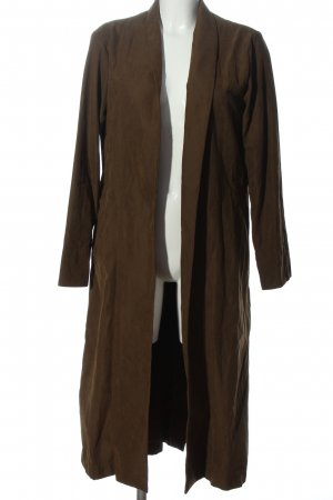 The Sept Manteau long brun style décontracté