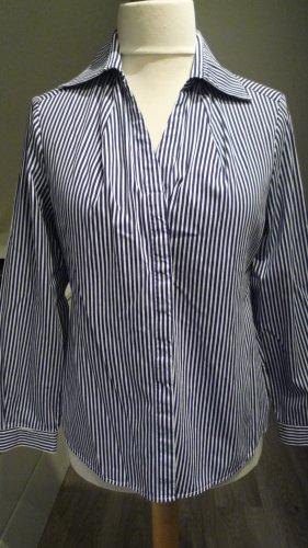 The Shirt Company London Bluse blau/weiss gestreift Gr. 42