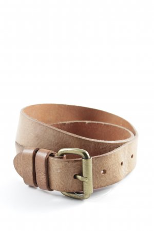 Leather Belt cream casual look