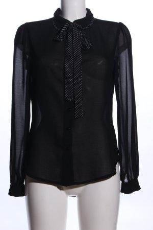 The Style London Transparenz-Bluse schwarz Business-Look