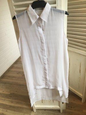 The Wardrobe lange Bluse weiß Gr M