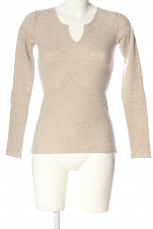 THE WHITE COMPANY Sudadera de cachemir crema moteado look casual