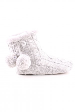THE WHITE COMPANY House Boots light grey cable stitch casual look