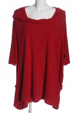 THEA plus Camicia con cappuccio rosso stile casual