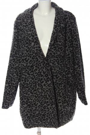 Thea Knitted Coat black-light grey allover print casual look