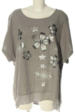 Thea Boothalsshirt lichtgrijs prints met een thema casual uitstraling